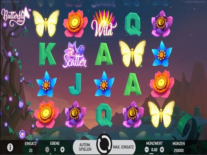 Butterfly Staxx Slot Machine