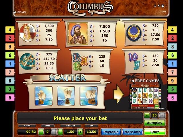 Columbus Slot