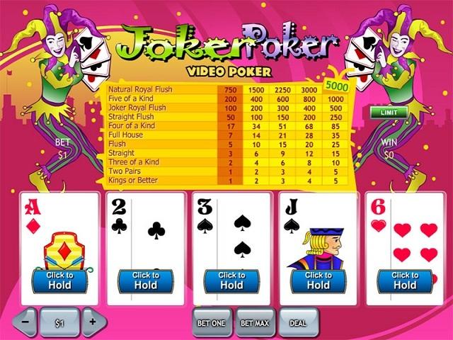 Joker Poker Video Poker Slot