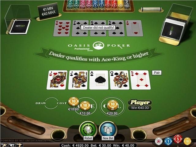 Oasis Poker Pro Series Slot