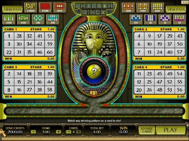Pharaoh Bingo Slot