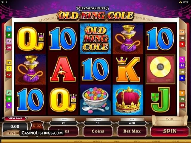 Rhyming Reels – Old King Cole Slot