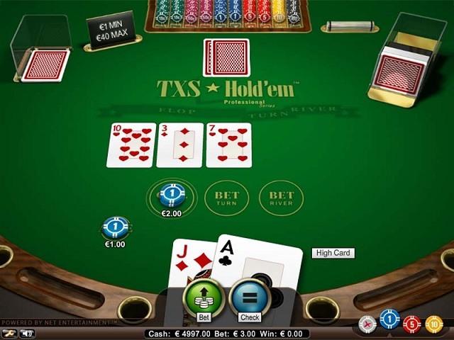 TXS Hold'em Pro Series Slot