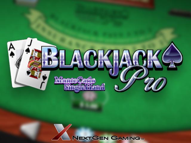 Blackjack Pro MonteCarlo Singlehand Slot
