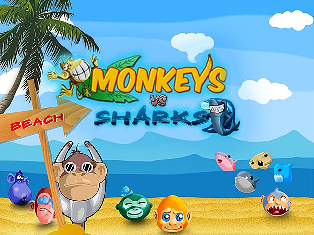 Monkeys VS Sharks HD Slot
